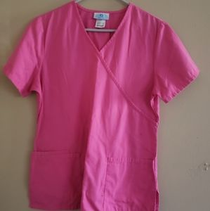 Pink scrub top